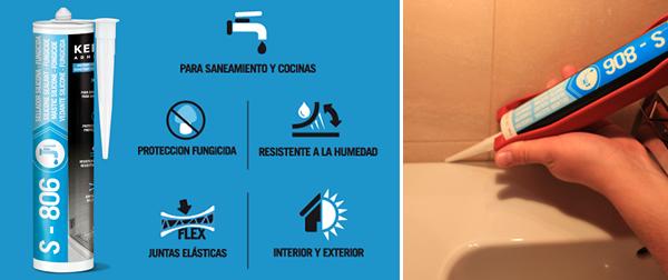 S-806, nuevo sellador de silicona profesional para saneamiento y fontanería